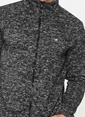 Mustang Fermuarlı Sweatshirt Siyah